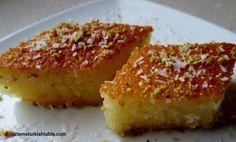 Revani; a deliciously moist semolina sponge cake in syrup