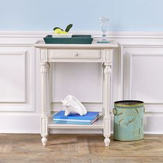 I want to paint my bedside table like this.  Ornate French Side Table | Side  Tables &  Pedestals