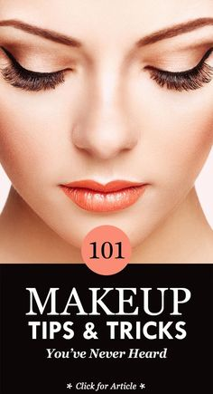 101 Makeup Tips & Tricks You've Never Heard: here we brought you 101 makeup tr. 101 Make-up- Daily Beauty Tips, Beauty Tips For Teens, Beauty Tips For Hair, Natural Beauty Tips, Natural Makeup, Beauty Hacks, Beauty Solutions, Beauty Secrets, Beauty Care
