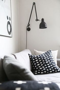 'Minimal Interior Design Inspiration' is a weekly showcase of some of the most perfectly minimal interior design examples that we've found around the web - all Interior Design Examples, Interior Design Inspiration, Home Decor Inspiration, Home Design Decor, Elefant Design, Floor Design, House Design, Black Wall Lights, Black And White Interior