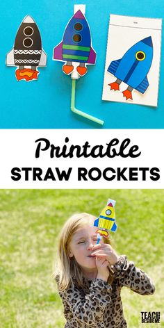 Make a straw rocket with your kdis! This fun STEM toy will get kids excited about learning about the science of air! they are just plain fun! Straw Crafts, Straw Projects, Projects For Kids, Diy For Kids, Space Activities For Kids, Educational Activities For Kids, Preschool Activities, Group Activities, Therapy Activities