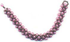 Making Beaded Bracelet - Pattern (Hugs & Kisses) | Bead jewelry making