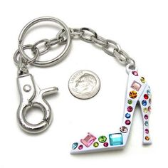 White High Heel Purse Charm $8 - by www.SassyToe.com Large Selection of Purse Charms    http://www.sassytoe.com/Gift_Boutique-Keychains_Purse_Charms.html