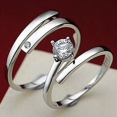 Couples' Kiss the lifelong Silver Ring(A pair of selling) 2016 - $7.49