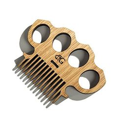 Brass Knuckles & Punisher Beard Comb With Awesome by BeardGains