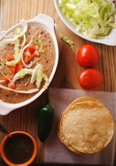 cheesy refried beans.