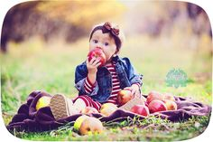 in love with this photo series-perfect for baby's first birthday in the fall