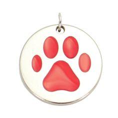 Plaquinha de identificação, confira em > http://lechik.com.br/index.php/produto/259/placa-pingente-patinha-pet-vermelha