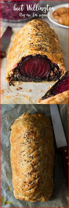 Beet Wellington with balsamic reduction – Lazy Cat Kitchen I'm the only one in my family that likes beets Veggie Recipes, Vegetarian Recipes, Cooking Recipes, Recipes Dinner, Fancy Recipes, Chicken Recipes, Dinner Ideas, Sunday Recipes, Vegetarian Lunch