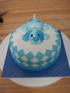 Puppy cake with checkers | by cake_architect on CakeCentral.com