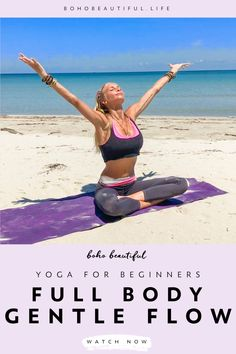 This 20 min easy yoga class is intended to stretch and relax your entire body Yoga Videos, Workout Videos, Workout Exercises, Easy Yoga For Beginners, Beginner Yoga, Namaste, Yin Yoga Benefits, Gentle Yoga Flow, Boho Beautiful