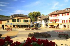 """See 41 photos and 1 tip from 308 visitors to Saint-Cergue. """"Swiss country at its best (Vaud style), with great trails, decent wine, and awesome. Swiss Country, Nocturne, Four Square, Tennis, Restaurants, Saints, Mansions, House Styles, Travel"""