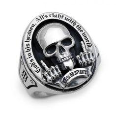 FC-261 Men's Jewelry Rings, Punk Jewelry, Skull Jewelry, Jewlery, Biker Accessories, Accessories Online, Harley Davidson Rings, Mens Skull Rings, Expensive Rings