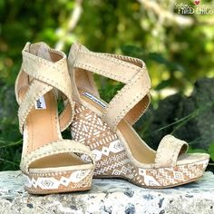 The Remi Wedge - Cream