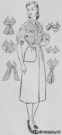 Блуза и юбка с большими накладными карманами - Сто фасонов женского платья - Всё о шитье