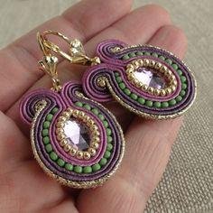 Isa, soutache earrings
