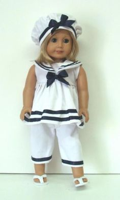 """SAILOR PANTS OUTFIT - 18"""" Girl Doll Clothes - An American Boutique"""