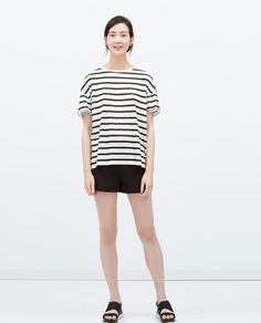 Image 1 of STRIPED PRINT T-SHIRT from Zara