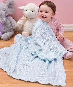 Heavenly Baby Blanket #knit #redheartyarns #babytlc #baby