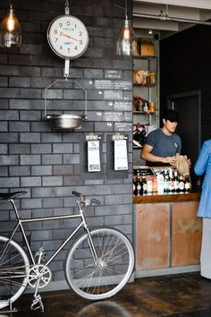 Small Cafe Order Counter | Chef Specials Handwritten in Chalk on Brick Wall