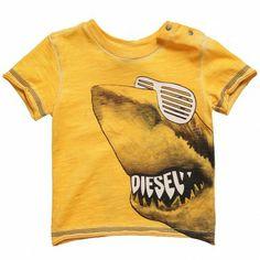 Boys Yellow Cotton Jersey T-Shirt