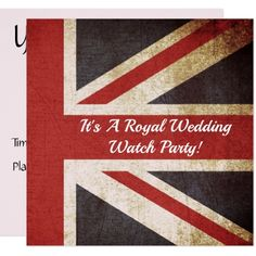 #Royal Wedding UK Flag Watch Party Invitation - #wedding gifts #marriage love couples