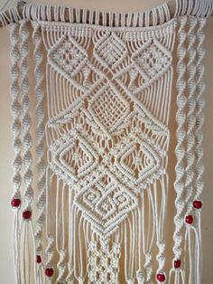 This macrame wall hanging gives individuality, comfort and charm to your dwelling. You can use this macrame wall hanging in any convenient location in your home. And this bohemian decor will bring coziness, love and happiness to your home and to your life. Woven from 4 mm 100%