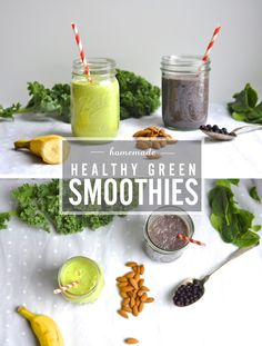 The Rainforest and The Dino | I'm sharing my two favorite green smoothies. They are both vegan, gluten free, and contain some healthy fat and protein so you are filled up and satisfied.