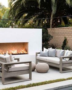 Backyard Seating, Outdoor Seating, Backyard Patio, Outdoor Decor, Backyard Arizona, Rustic Outdoor, Jardiniere Design, Patio Grande, Backyard Fireplace