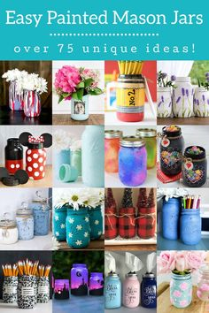 Painting mason jars is easy, fast, and the results are beautiful! Learn several techniques and get over 75 ideas for making them fabulous. Mason Jar Lanterns, Mason Jar Centerpieces, Wedding Centerpieces, Christmas Vases, Christmas Ornaments To Make, Christmas Gifts, Mason Jar Gifts, Mason Jar Diy, Mason Jar Photo