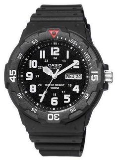 Casio Men's MRW200H-1BV Black Resin Dive Watch: Best watch under $50.