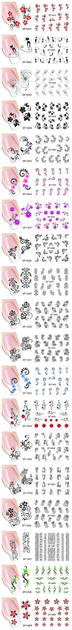 water transfer nail sticker wall sticker 3d Colored Nail Sticker,Handmade Nail Art,Water Nail Decal
