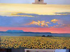 Sunflowers at Sunset by Anna Lamprecht