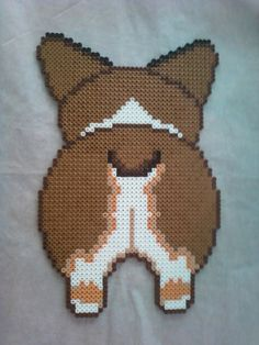 corgi perler bead - Google Search