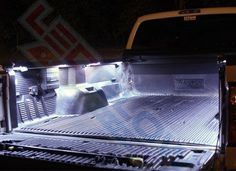 LEDGlow's Truck Bed Lighting Kit features 48 ultra-bright white LEDs housed in 8 pods that will illuminate your truck bed for increased visibility. Ram Trucks, Lifted Trucks, Cool Trucks, Chevy Trucks, Truck Mods, Truck Parts, Toyota Tacoma, Toyota Tundra, Truck Bed Lights