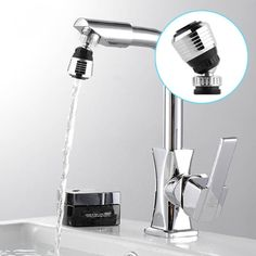 360 Degree Water Bubbler Swivel Head Saving Tap Faucet Aerator Connector Diffuser Nozzle Filter Mesh Adapter