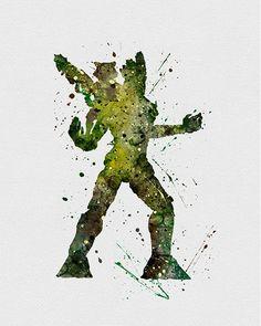 Rocket and Groot Watercolor Art