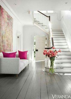 Bright, beautiful entry in Veranda magazine