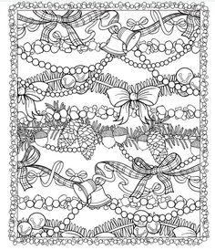 line drawing of christmas garlands christmas coloring pagescoloring