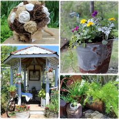 """Check out Gypsy Farm Girl's Blog. Some great ways to recycle """"junk!"""""""