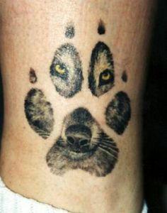 Tatoo wolf