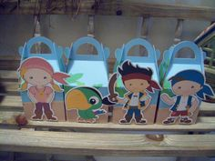 Jake and Friends Inspired Gable Favor Boxes Set of 12 by zbrown5, $14.40
