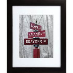 Signs Of Love Personalized Framed Print in Color