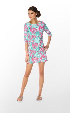 Lilly cassie dress slub in hotty pink scorpion bowl. perfect for spring break!
