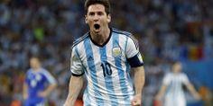 A estréia de Messi