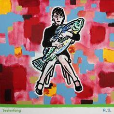 "Saatchi Art Artist Ralf Schmidt; Painting, ""Seelenfang"" #art"