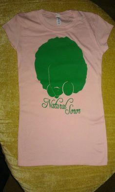 ALPHA KAPPA ALPHA Natural Soror Shirt Size xl by AuNaturelDiva, $20.00