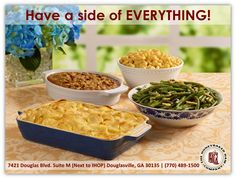 Don't forget your delicious heat & serve sides from HoneyBaked Ham Douglasville !