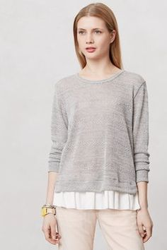 Anthropologie Ruffled and Ribboned Pullover on shopstyle.com