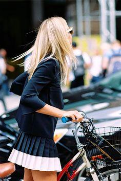 Mini pleated skirt.